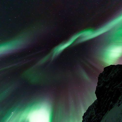 aurora borealis, dark, night