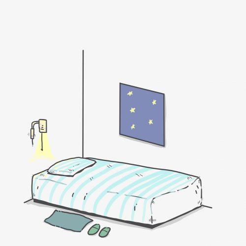 bed, sleep, night